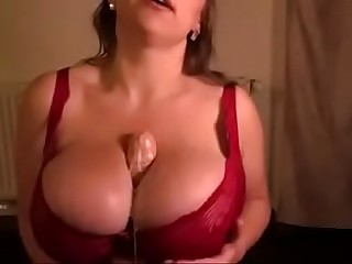 Big tits milf makes a titfuck cum