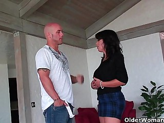 Big titted milf Sienna West gets facialized