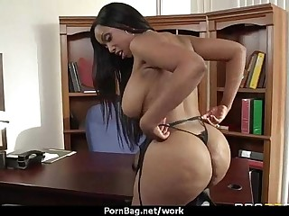 Big titted office MILF fucks to hand move 29