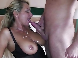 German Big Tit MILF seduce Big Dick Young Boy yon Fuck