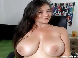 Big titted girl has multiple orgasm on cam
