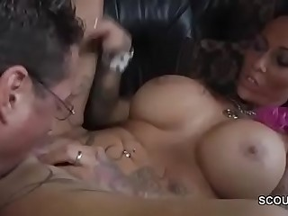 Tattoo and Big Tit MILF Seduce thither Fellow-feeling a amour by German Chef