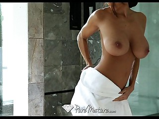 Cum dripping trinity fuck with obese titty girls coupled with creampie - PureMature