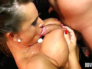 Hot german milf gets big tits fucked