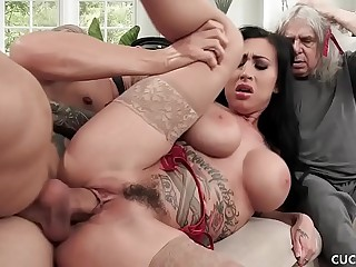 Big Knocker Lily Lane Cucks Her Husband Unconnected with Fucking The Well Endowed Chauffeur