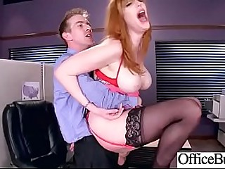 (Lauren Phillips) Huge Round Boobs Girl Banged Hard In Office clip-15