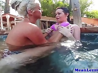 Outdoor lesbian adolescence with bigtits closeup