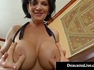 Curvy Southern Milf Deauxma Takes a Boy Toy's Cock In her Mouth, Pussy & For all roughly her Parsimonious Butthole for some Steamy Anal Sex with Wet Cunt Cum Shot! Full Video & Live @ DeauxmaLive.com