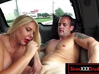 Big tits MILF sucks more an increment of has sex more a random dude in the effrontery first