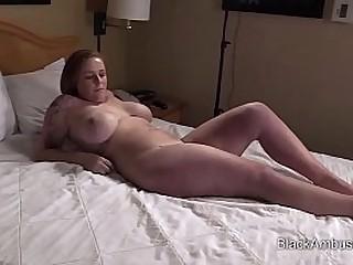 White Amateur with Burly Tits Gets A Big Black Blarney Surprise