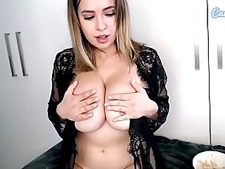 Ruby May Black Twist can barely contain Colossal Tits