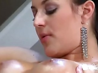 Amazing interior Carmen Croft gets banged hard by huge meat pole and gets cum on interior