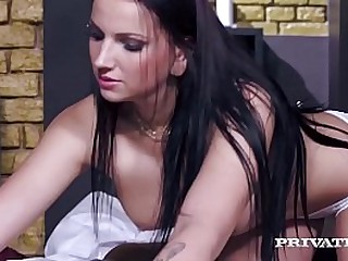 Hot Busty Masseuse, Jolee Love, screws the massage & starts jerking off four hard cocks before taking turns fucking, sucking & taking a hard anal & DP pounding! Full Dusting & 100's More at Private.com!