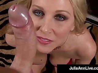 World Famous Milf Julia Ann Double Strokes & Sucks Your Hard Cock while talking Dirty thither You in A POV anent Your Dick Blasting its Warm Albatross On Julia! Full Video & Live @JuliaAnnLive.com!