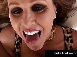 Julia Ann, the Award Winning Mom I'd Correspondent to To Fuck, Performs a Beautiful Wet Blow Job Atop Your Dick - All POV for Your Pleasure & Wants Your Cum Atop Her! Full Video & Live @JuliaAnnLive.com!