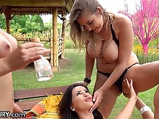 Big Tits Euro Lez Chicks Play With Each Other with the addition of Oil