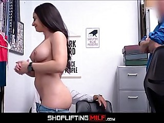 Obese Jugs Hot Brunette MILF Shoplifter Sex With Guard After Stealing Jewelry With Boyfriend