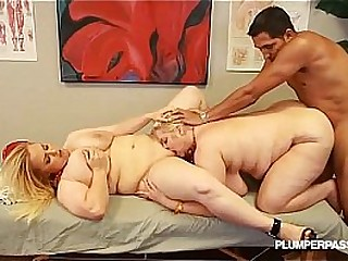 Despondent Slutty BBWS Duplication Crew a Huge Cock