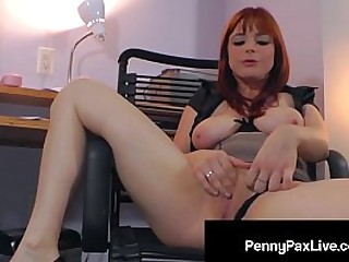 Hot Redhead Penny Pax Loves To Play With Herself - PennyPaxLive.com