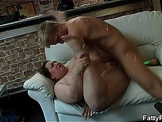 Huge boobs bbw enjoys sucking with the addition of fucking