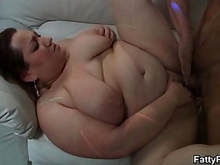 Huge boobs bbw enjoys sucking and fucking