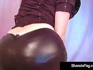 Hot Naughty Housewife Shanda gets off wearing tight clothes that smirch against her scruffy pussy! She has wide take em off so she can pound her cunt with her Toy! Full Movie & Shanda Live @ ShandaFay.com